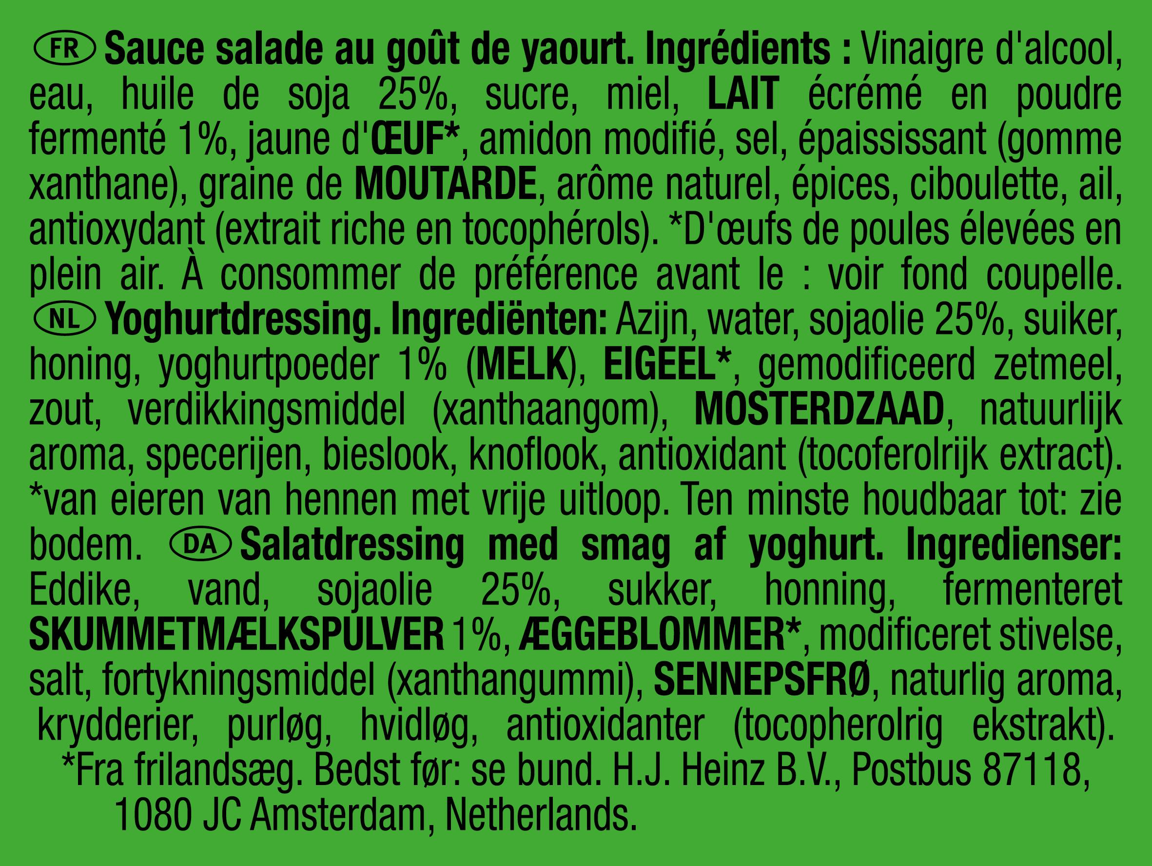 Heinz Yoghurt dressing 25ml dippot