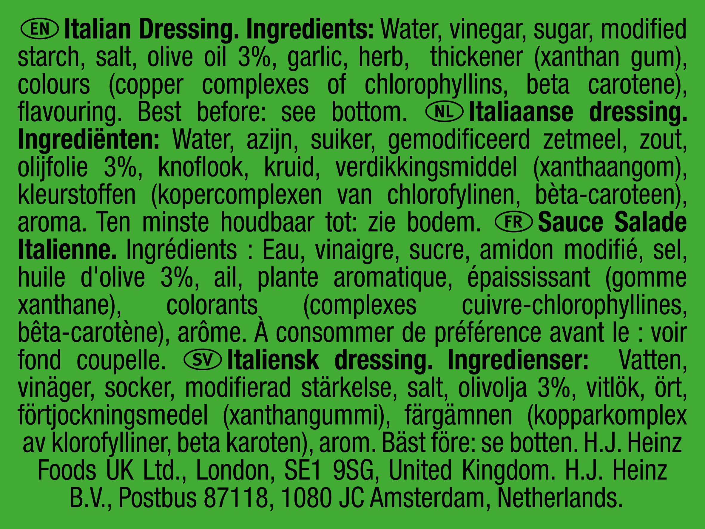 Heinz Italian Dressing 25ml dippot