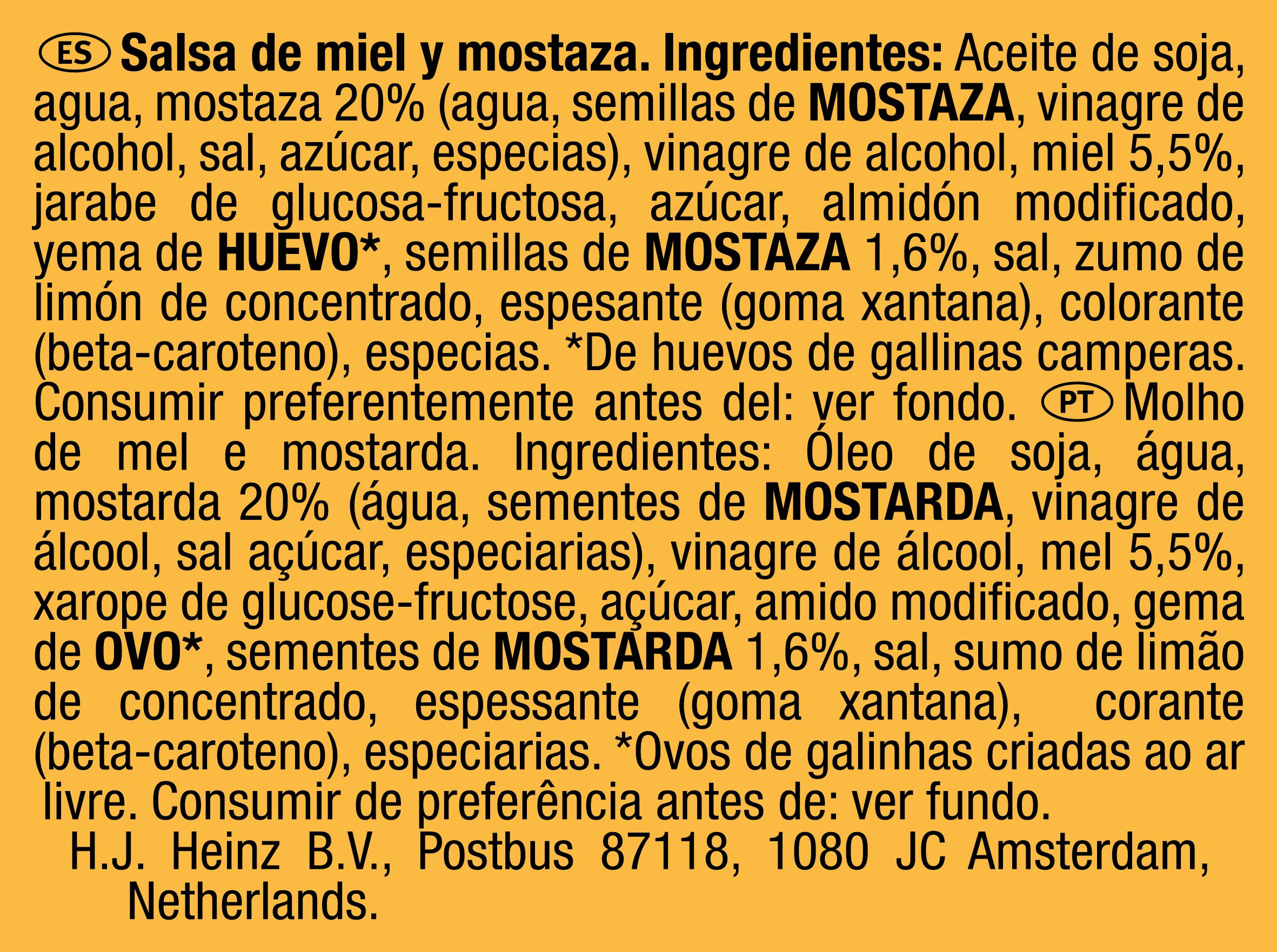 Heinz Cream Honey Mustard 25g