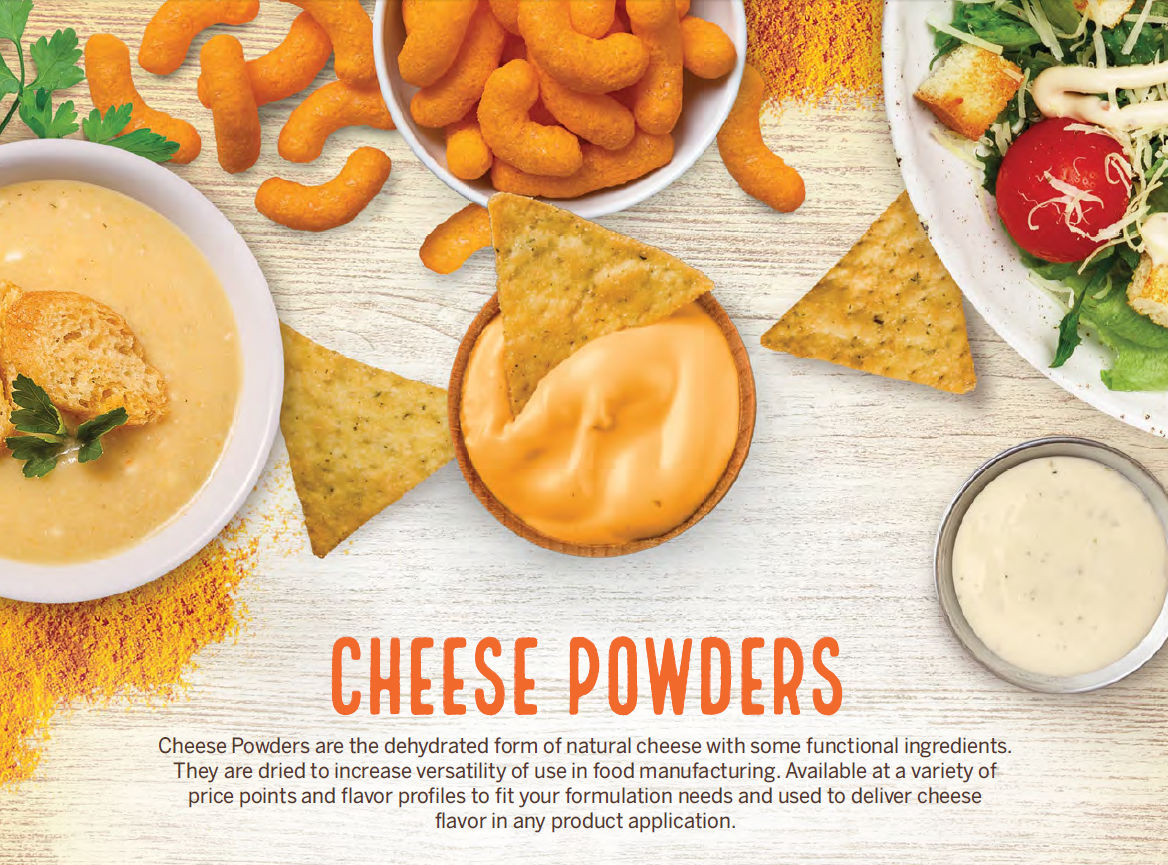 Cheese Powders Sell Sheet