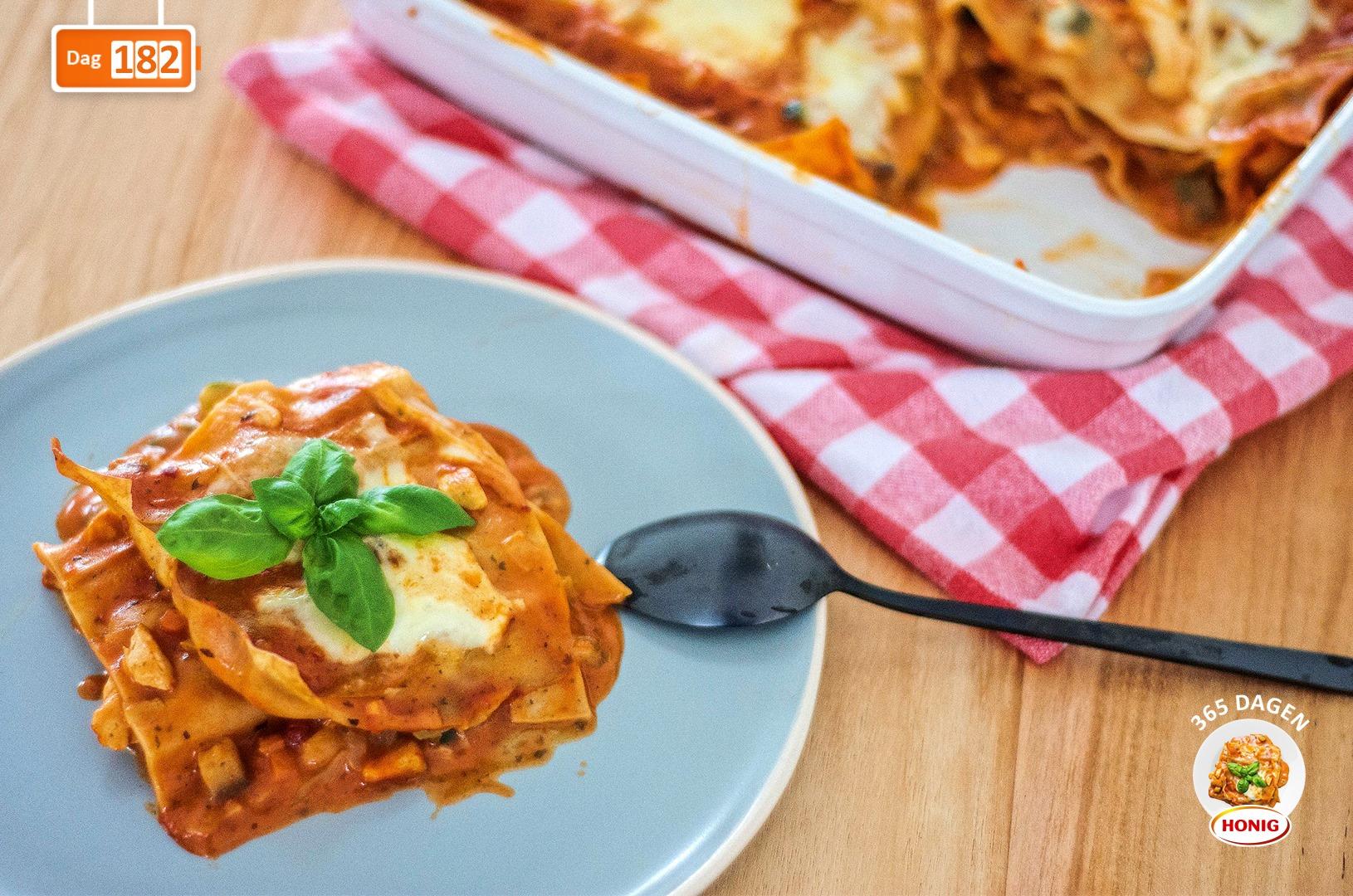 Napolitaanse lasagne met kip