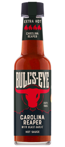 Bull's Eye Hot Sauce Carolina Reaper with Black Garlic