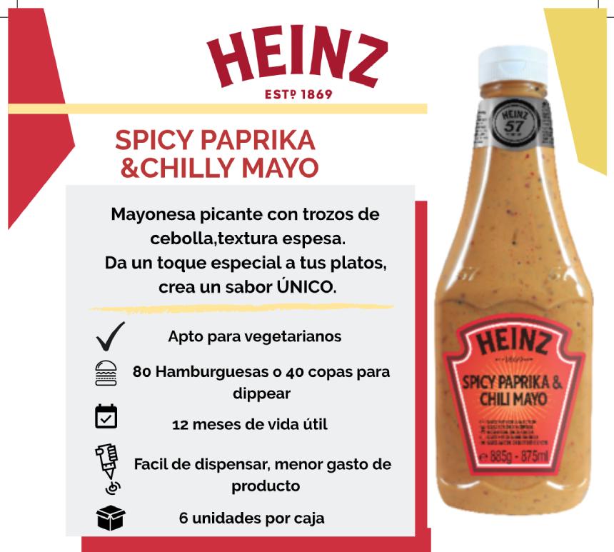 Heinz Spicy Paprika & Chilly Mayo 875ml