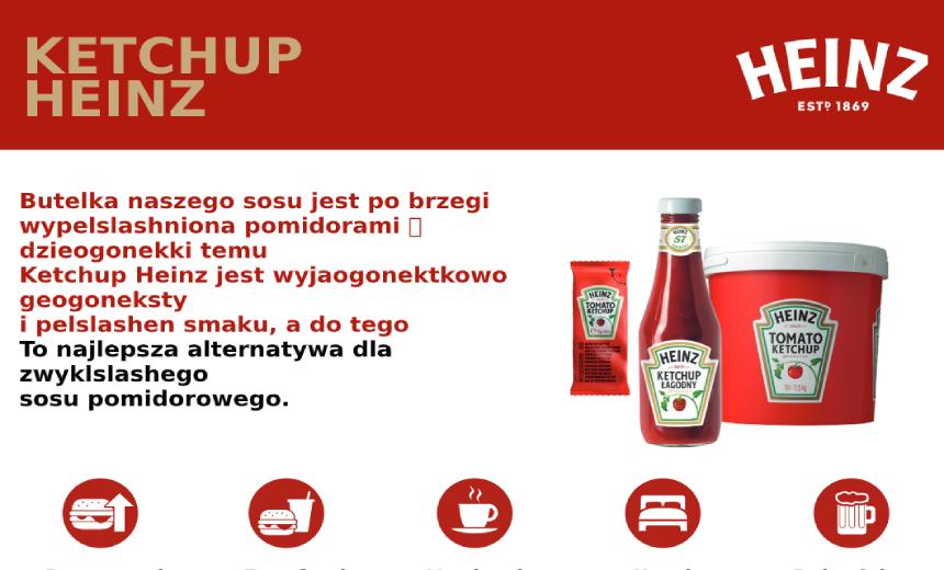 Ketchup Heinz Informacje