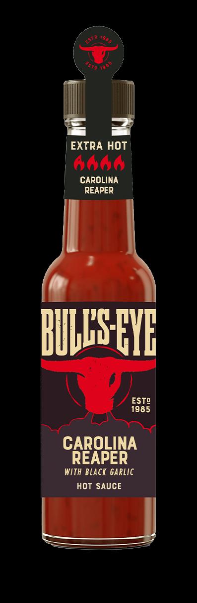 Bull's Eye Hot Sauce Carolina Reaper with Black Garlic