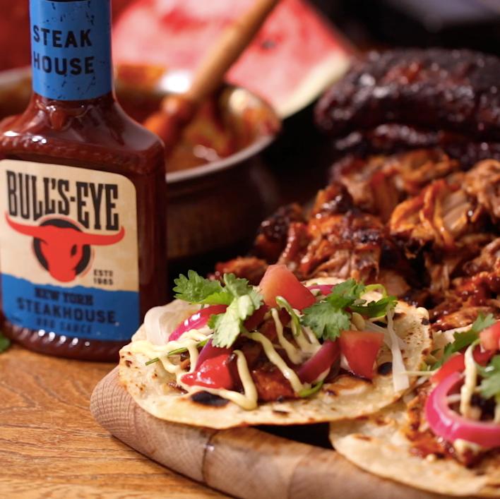 BULL'S-EYE BBQ RIB TACOS